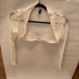 White all lace Cover up